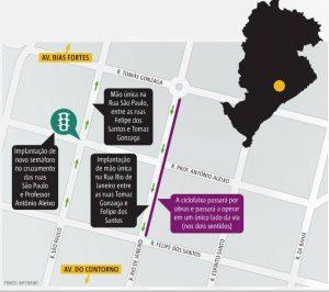 Mapa retirado: Metro Jornal