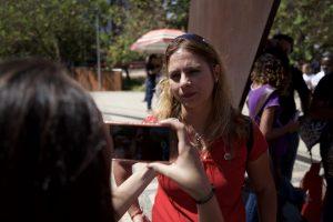 Beatriz Cerqueira, presidente da CUT/ MG. Fotografia: Lucas D' Ambrósio.