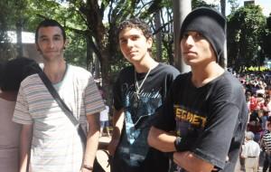 Os amigos Daniel, Heron e Lucas